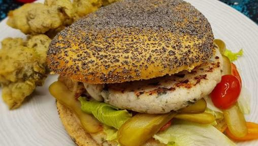 Hamburguesas de merluza y cangrejo.