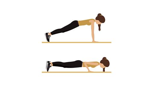 Flexiones en el suelo.