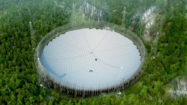 El gigantesco radiotelescopio chino FAST