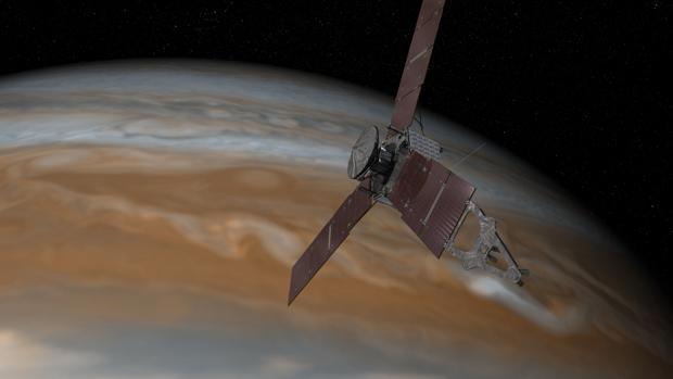 Ilustración de la misión Juno de la NASA
