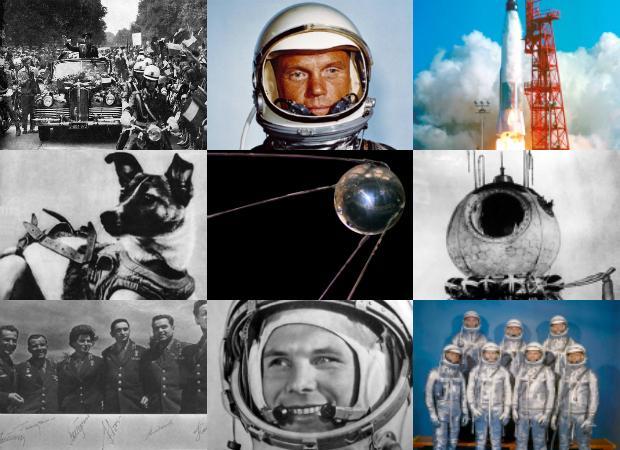El lanzamiento del primer satélite, el Sputnik, hizo estallar una osada y vertiginosa Carrera Espacial con los programas Mercury y Vostok para poner al hombre en órbita
