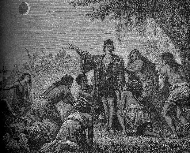 El eclipse de Luna de Cristobal Colón, de Camille Flammarion