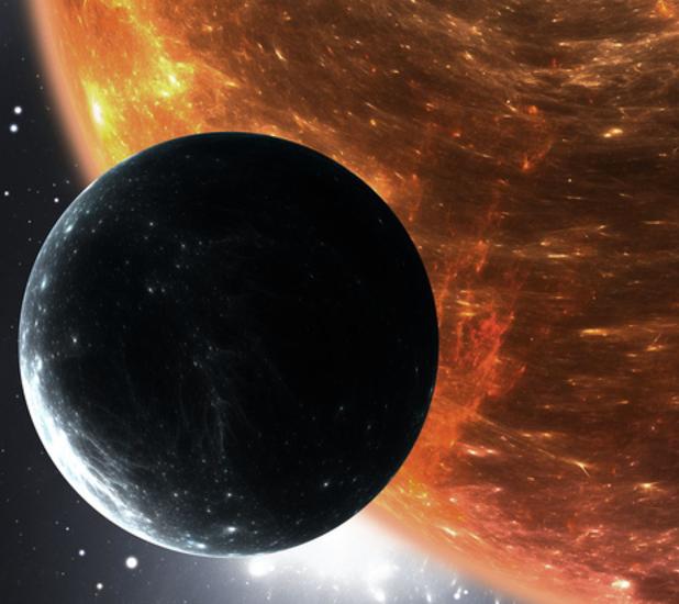 Representación de la nueva «súper-Tierra» hallada por un equipo de investigadores de la universidad de Oviedo y el AIC