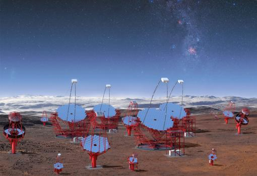 Instalaciones del Cherenkov Telescope Array (CTA). También buscarán fuentes de luz de altísima energía