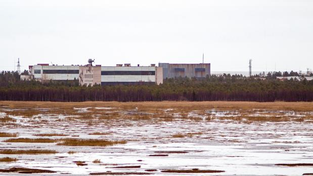 Edificios de la base naval de Nenoksa, en la región de Arcángel, al norte de Rusia, fotografiados en 2011