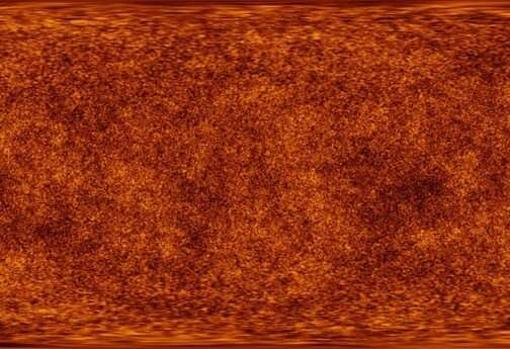 A more precise color according to the Max Planck Laboratory of how the principle of the visible universe was
