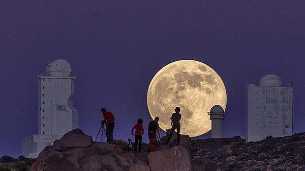Superluna vista desde Tenerife en una imagen de archivo