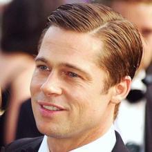 El atractivo Brad Pitt no tiene un rostro extremadamente masculino sino más bien intermedio