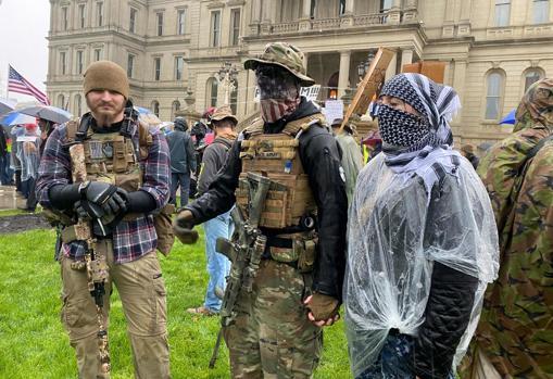 Protestas contra el confinamiento en Lansing, Michigan (EE.UU.), el pasado 13 de mayo