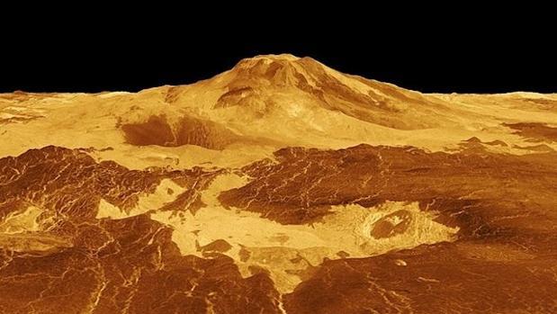 Uno de los volcanes de Venus