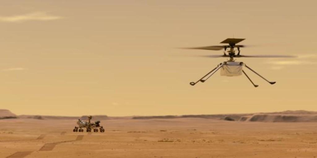 Perseverance e Ingenuity vuelven a hacer historia: el primer vídeo con audio de un vuelo marciano