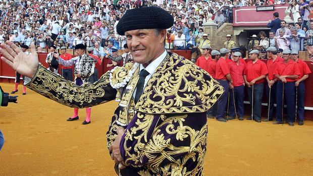 Juan Antonio Ruiz «Espartaco», en su reaparición en la Maestranza