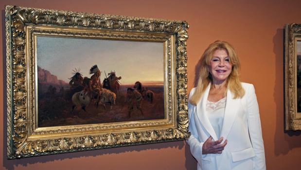 Carmen Thyssen, durante la presentación de «La ilusión del Far West»