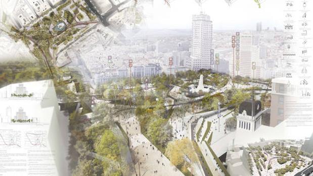 Parte de la propuesta de reforma titulada «Redibujando la plaza»