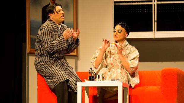 José Saiz y Alberto Vázquez, en un momento del espectáculo