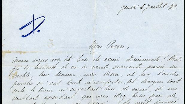 Una de las cartas ya digitalizadas