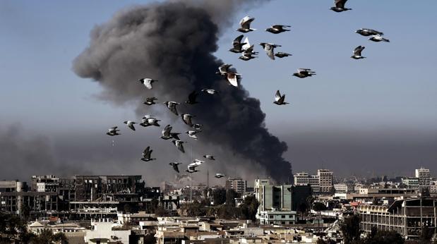 Vista de Mosul este lunes 6 de marzo