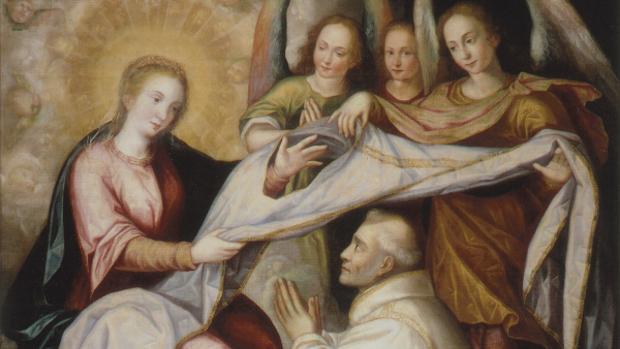 «Imposición de la casulla a San Ildefonso» (detalle), de Juan Sánchez Cotán