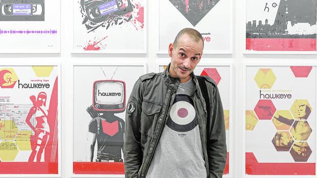 David Aja, en la inauguración de su exposición en Valladolid