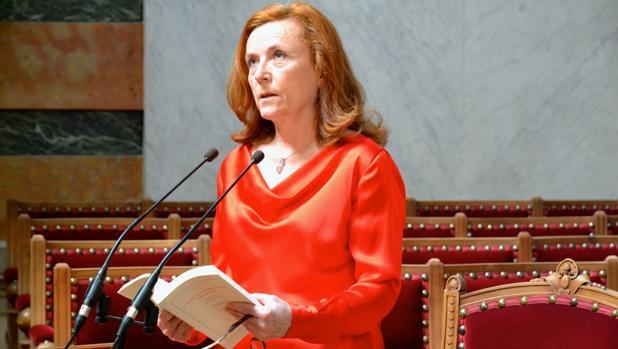 Aurora Egido, en su toma de posesión como académica el 8 de junio de 2014