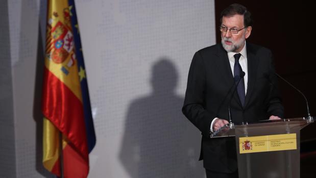 Mariano Rajoy, durante la presentación de «El español, lengua global»