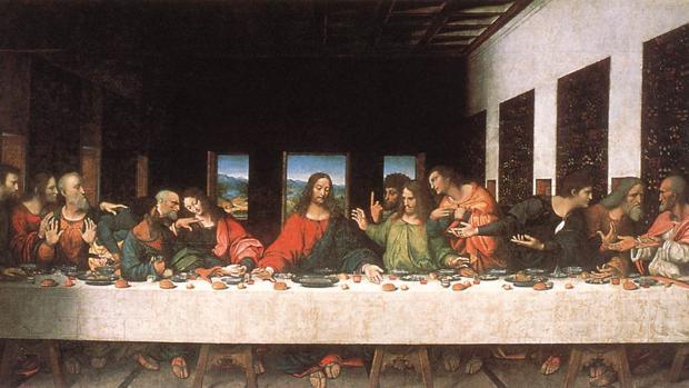 Copia de «La última cena» de Leonardo