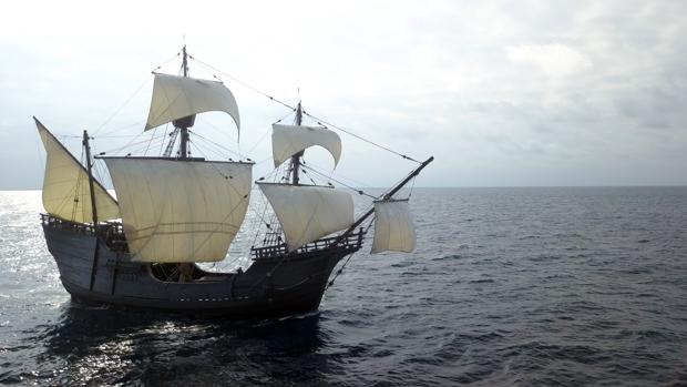 La Nao Victoria, en aguas del Cantábrico, el pasado miércoles