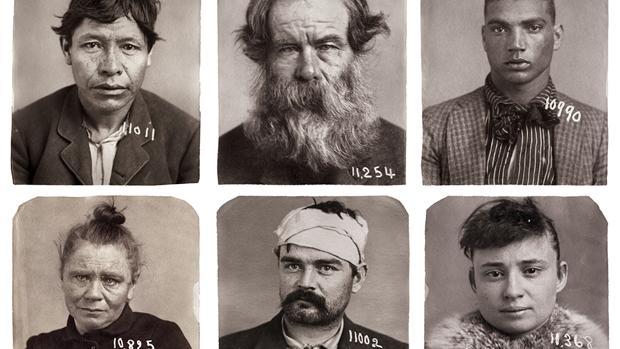 Fotografías de delincuentes compiladas por Thomas Cunningham (c. 1880-90)