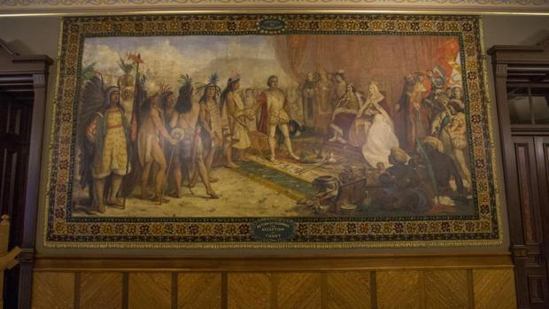 Uno de los murales de la polémica