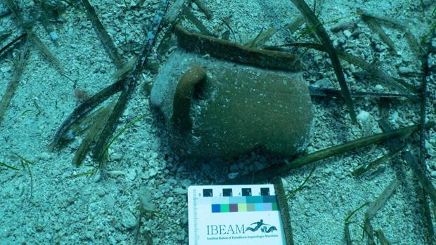 Una de las piezas halladas en aguas de Pollença