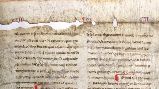 Uno de los manuscritos identificados