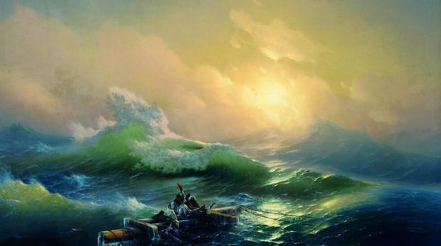 «La novena ola» (1850), de Aivazovski