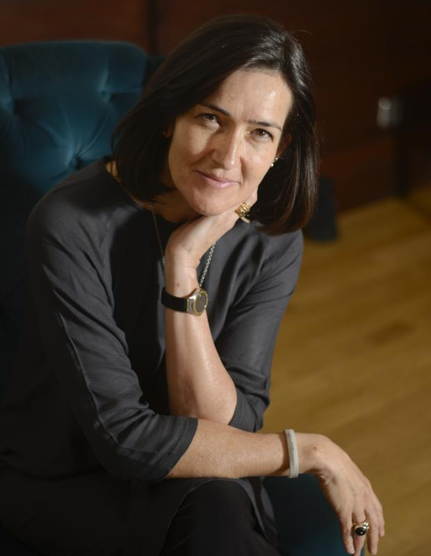 La escritora, cineasta y guionista Ángeles González-Sinde, fotografiada en Madrid tras su entrevista con ABC