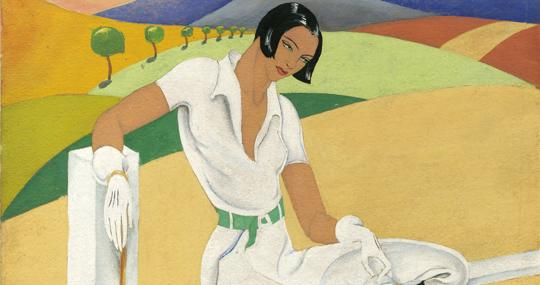«Descanso». Detalle de ilustración de Purificación Searle, publicada el 23 de julio de 1933