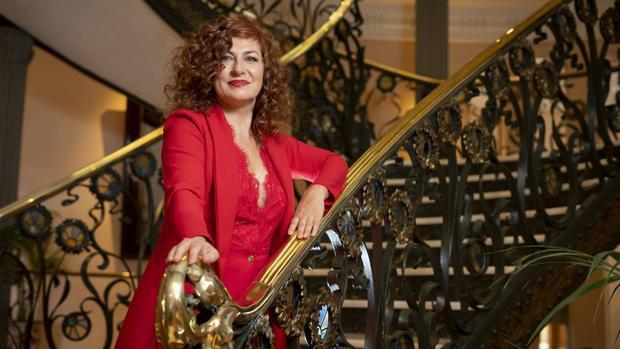 Pilar Jurado, en el Palacio de Longoria