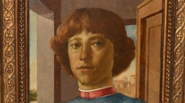 Detalle de «Retrato de un hombre joven», el supuesto Botticelli