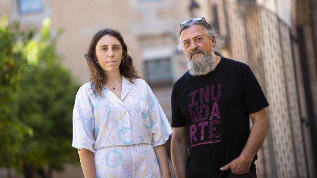 María Medem y Max, fotografiados ayer en Barcelona