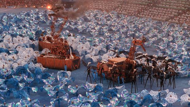 Ceremonia inaugural de los Juegos Olímpicos de Barcelona, en 1992