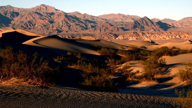 Las dunas de arena en el Parque Nacional del Valle de la Muerte