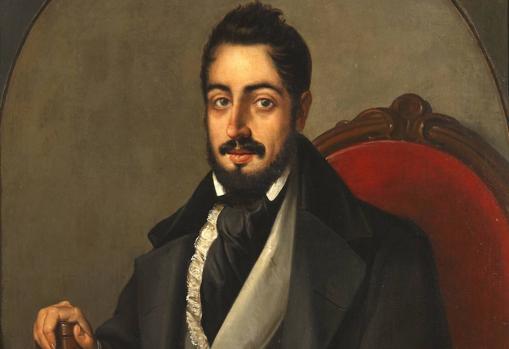 Retrato de Larra (1835), atribuido a José Gutiérrez de la Vega y Bocanegra