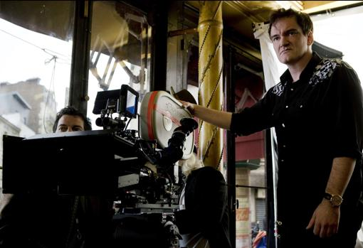 Tarantino, en pleno rodaje