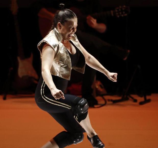 Un momento de la actuación de Rocío Molina en el Baluarte de Pamplona
