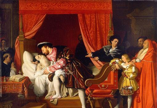 «La muerte de Leonardo», de Ingres