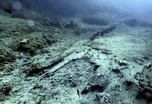 Los restos del bergantín «Mentor»