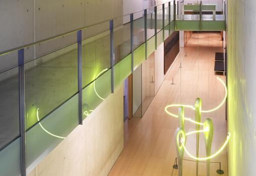 Detalle de los interiores del museo