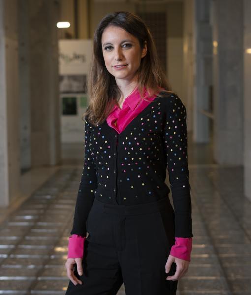 Andrea Levy, en Centro Centro, dependencias culturales del Palacio de Cibeles