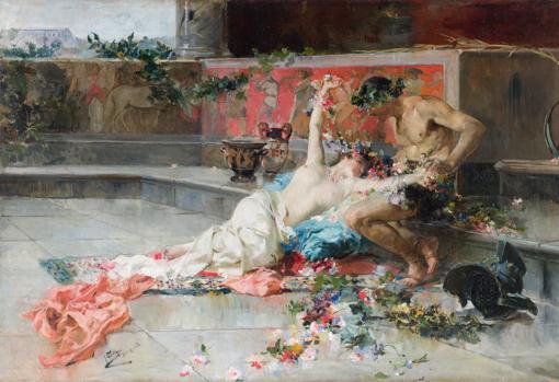 «Mesalina en brazos de un gladiador» (1886)
