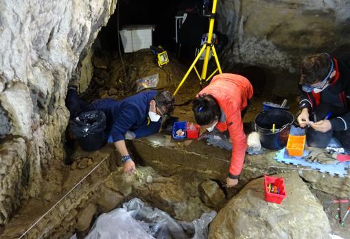 Escena de la excavación