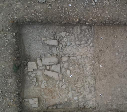 Section of street uncovered in excavations