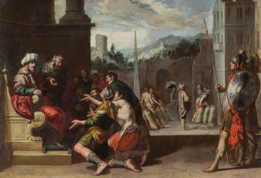 'José orders the prison of Simeón', by Antonio del Castillo